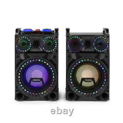 10 Bluetooth Karaoke Party Speakers with Disco Lights MP3 Media Music System