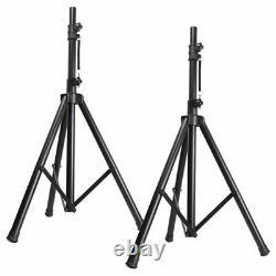 12 Inch Active Speaker System Portable DJ Disco PA Package Stands Cables 700W