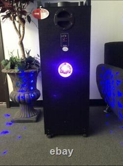 18500 Watts Rechargeable Bluetooth Karaoke Speaker With Four Disco Lights