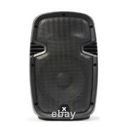 2 X Skytec Compact Active Powered 8 Dj Disco Pa Speaker Monitors 400 Watt Pair