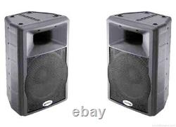 2 x Active Gemini GX350 12 PA Disco Speakers With Protective Covers/Cases