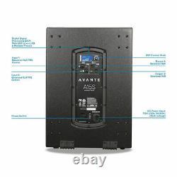 2 x Avante A15S Active 15 Subwoofer Bass Speaker 1600W DJ Disco Sound System PA