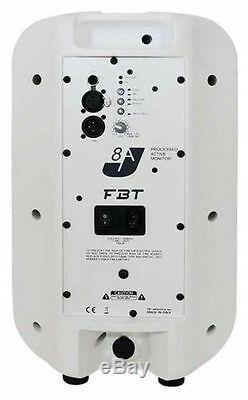 2 x FBT J8A Active Speaker White 8 250W Disco DJ Monitor PA Sound System