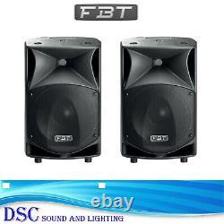2 x FBT JMAXX 114A ACTIVE 900 WATT 14 CLASS D AMPLIFIED DJ DISCO BAND SPEAKERS