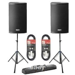 2 x FBT X-Lite 10A Active 2000W 10 Powered Speakers Package DJ Disco PA System