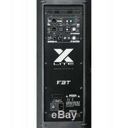 2 x FBT Xlite 10A Active 2000W 10 Powered Speaker DJ Disco PA Sound System
