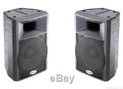 2 x Gemini GX350 12 Active Speakers (400w) RMS 800 watts DJ Disco pa Band