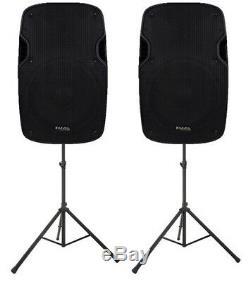 2 x Ibiza Sound 12 Active XTK12A 1000W Speaker PA System DJ Disco PA System