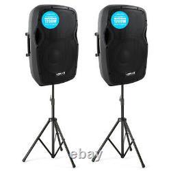 2 x PRO AP1200A Active PA Speaker 2400W IPP 12 PA DJ Disco Sound System
