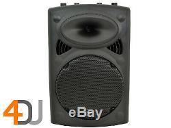 2 x QTX QR15K 15 800W Active Portable Speaker Pair DJ Disco Sound System PA