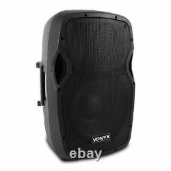 2x AP12 DJ Disco Party Active Speakers + Soundsak Universal Speaker Carry Bags