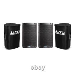 2x Alto TS308 Active 8 Speaker 2000W Powered Loudspeaker Disco DJ Sound Bundle