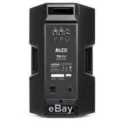 2x Alto TS312 12 4000W Powered Active PA Speaker Stage DJ Disco Band + XLR Lead