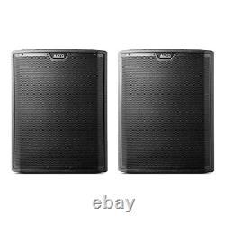 2x Alto TS318S Active 18 2000W Subwoofer Bass Bin Speaker DJ Disco Sound System