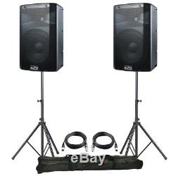 2x Alto TX210 10 600W Powered Active PA Speaker DJ Disco Band + Leads + Stands