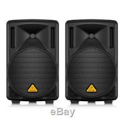 2x Behringer B210D Active PA Speaker 200W 10 DJ Disco PA System