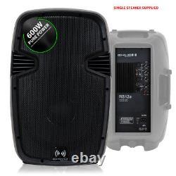 2x Ekho 12 Active PA Speakers Disco DJ System + 2x Stands Karaoke Party Set