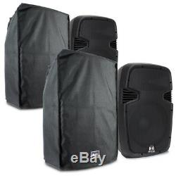2x Ekho 15 Active PA Disco Speakers Mobile DJ Water Resistant Dust Covers 1600W