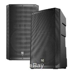 2x Electrovoice ELX200-15P Active 15 PA Speaker 1200W DJ Disco Sound System