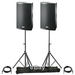 2x FBT X-LITE 10A 10 2000W Powered Active PA Speaker Stage Disco Band + Stands