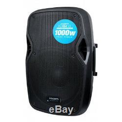 2x Kam RZ12A V3 2000W 12 Powered Active PA Speaker DJ Disco Band Club + Stands