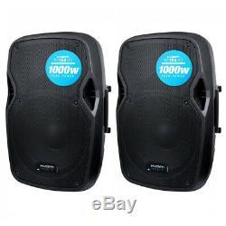 2x Kam RZ12A V3 2000W 12 Powered Active PA Speaker with EQ DJ Disco Band Club