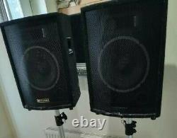 2x PA speakers (pair) MADE BY SKYTEK 200W EACH DISCO STUDIO stereo