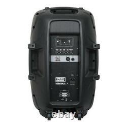 2x ShowGear Venga 15 Active Speaker 15 PA Sound System DJ Disco