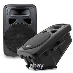 2x Skytec 12 Active Disco Speakers Cables DJ Sound System Wedge Monitors 1200W