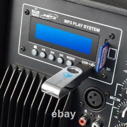 2x Skytec SP1200ABT 12 Active Powered Bluetooth DJ Disco PA Speakers 1200W Max