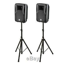 2x Studiomaster bDRIVE10A Active Speaker 1000W 10 PA System DJ Disco