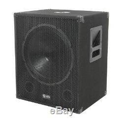 4000W Active Speaker Sound System PA DJ Disco 4x 15 Sub 2x 15 Top Speakers
