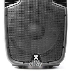 4x Vonyx SPJ 15 Active Portable Karaoke Disco Speakers Party System 3200W