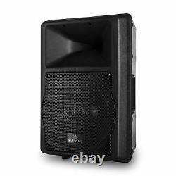 ACTIVE PA KARAOKE SPEAKER 550W RMS 2x MICROPHONE INPUT HOME DJ DISCO STAGE PARTY
