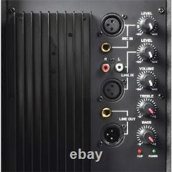 Active 15 Pa Speaker 800w 2-way Party Loudspeaker Karaoke Dj Disco Club System