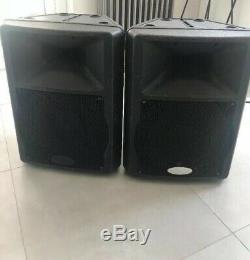 Active Gemini GX350 12 PA Disco Speakers With Protective Covers/Cases