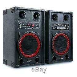 Active loud PA speakers surround sound USB SD Black 600 Watt Party Disco Dj Loud