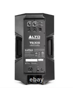Alto TS308 Active 2000W 8 DJ Disco PA Speaker (Pair) + FREE 6m XLR Cable