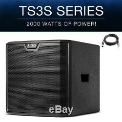 Alto TS312S 12 2000W Powered Active PA Subwoofer Sub Bass Bin Speaker DJ Disco