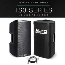 Alto TS312 12 2000W Powered Active PA Speaker DJ Disco Band + Cover + XLR Lead