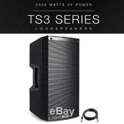 Alto TS315 15 2000W Powered Active PA Speaker Stage Disco DJ Band + XLR Lead