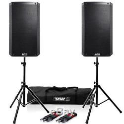 Alto TS315 Active 15 DJ Disco PA Speakers (Pair) with FREE Stands & Cables