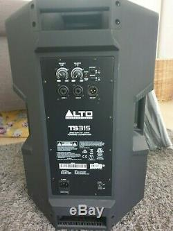Alto TS315 Active 15 DJ Disco PA Speakers with Covers, Stands & Cables USED