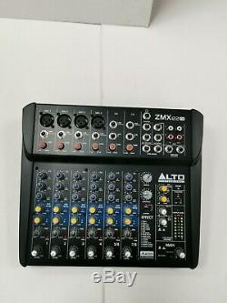 Alto TX210 Active 10 300W DJ Disco Speakers with stands, x2mics & zmx mixer