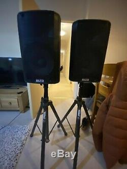 Alto TX210 Active 10 600W RMS DJ Disco Live PA Speakers (Pair) with XLR Cables