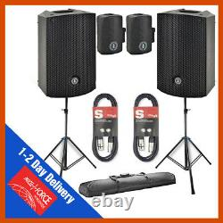 Ant MBS15 15 Active Powered 1600W DJ PA Disco Club Speaker BUNDLE Bags & Cables