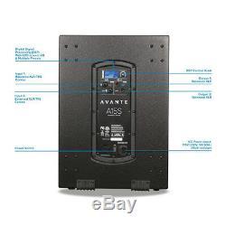 Avante A15S Active 15 Subwoofer Bass Speaker 1600W DJ Disco Sound System PA