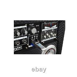 B-Stock 1200W 8 ACTIVE SPEAKERS DISCO USB SD 2 VHF MICS LED FX FREE P&P SPEC