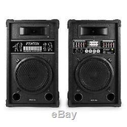 B-Stock ACTIVE SPEAKERS USB SD MP3 DJ DISCO PARTY KARAOKE PA SOUND SYSTEM 600W