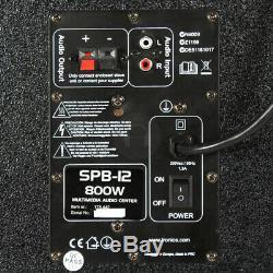 B-Stock Fenton 12 Active Bluetooth PA DJ Speakers Disco Karaoke Party Set